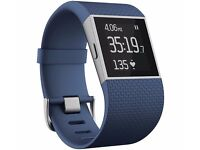 BRAND NEW FITBIT SURGE IN BLUE IN SMALL