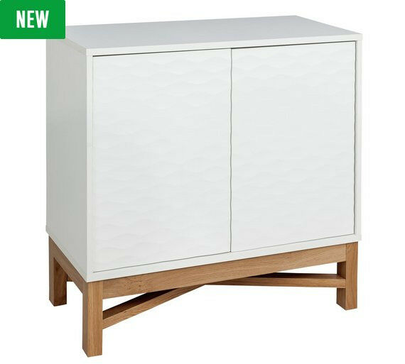 Hygena Zander Textured Sideboard - White & Oak Effect