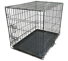 Small dog cage in black