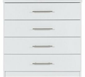 Ex-display Normandy 4 Drawer Chest - White
