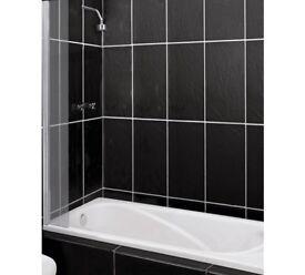 Argos Home Half Framed Single Shower Splashguard - Silver