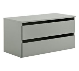 Hygena Bergen Large 2 Drawer Internal Chest - Grey