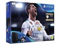 PS4 Slim Black 1TB Console Bundle with Fifa 18