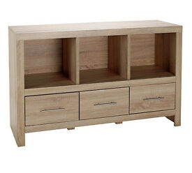 HYGENA TUNBRIDGE 3 DRAWER SIDEBOARD - LIGHT OAK EFFECT