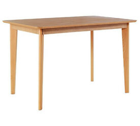 Hygena Retro Dining Table - Solid Beech Ash Veneer