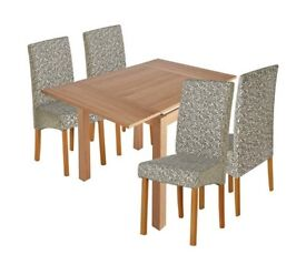Clifton Extendable Table & 4 Chairs - Floral