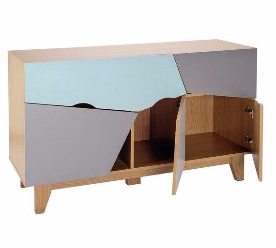 HOME 3 Door 2 Drawer Sideboard - Multicoloured