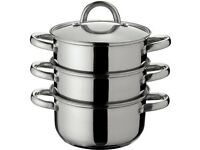 Argos Home 18cm 3 Tier Stainless Steel Steamer for sale