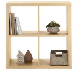 Hygena light oak storage cubes