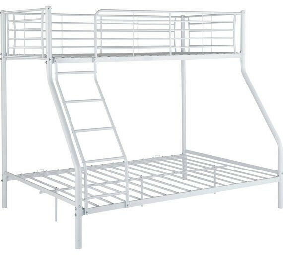 Lucas Triple Metal Bunk Bed Frame White In Bramley West