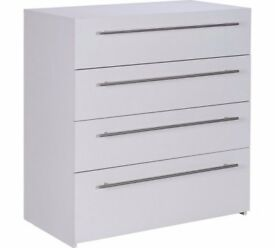 Ex display Atlas 4 Drawer Chest - White