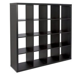 Hygena Squares Plus 16 Cube Storage Unit - Black