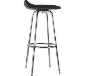 5 bar stools - black & chrome, swivel head - from Argos