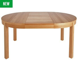 Clifton Round Ext Oak Veneer 4-6 Seater Table