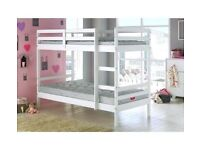 💛💛CALL NOW FOR SAME DAY💛💛NEW SINGLE WHITE WOODEN BUNK BED -- WHITE AND PINE COLOURS