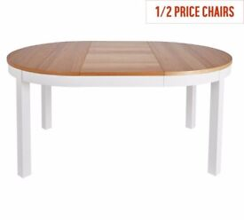 Ex-display Clifton Extendable 4-6 Seater Table -Two Tone