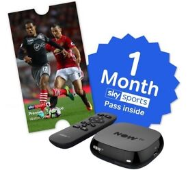 Now tv box with 1 months sports pass