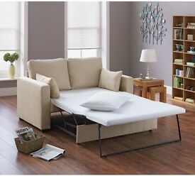 Apartment 2 Seater Fabric Sofa Bed - Natural