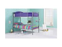 HOME Samuel Single Bunk Bed Frame - Silver