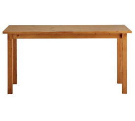 HOME Ashdon Solid Pine 6 Seater Dining Table - Oak Effect