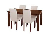 HOME Hampton Dining Table & 6 Chairs Cream