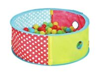 Chad Valley Blue Pop Up Ball Pit - With Extra balls