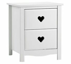 Ex display Mia Bedside Chest - White