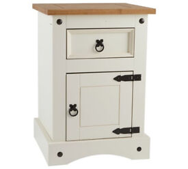 Puerto Rico 1 Drawer Bedside Chest - Two Tone