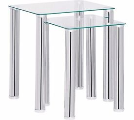 Hygena Matrix Glass Small Entertainment unit and nest of tables