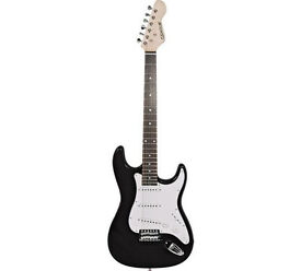 Elevation Stratocaster Style Black Electric Guitar