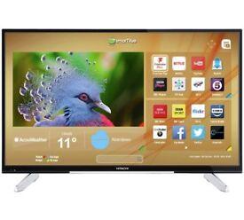 brand new in box Hitachi 50Inc 4k smart tv