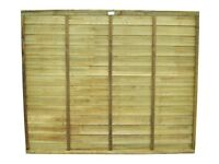 Forest superlap pressure treated fence panel. 6ft x 6ft