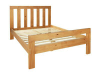Chile Single Bed Frame - Oak Stain