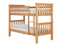 Heavy Duty Bunk Bed Frame - Pine