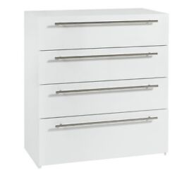 Ex display Atlas 4 Drawer Chest - White Gloss