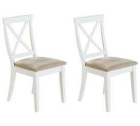 Collection Southwold Pair Of Solid Wood Chairs - Two Tone