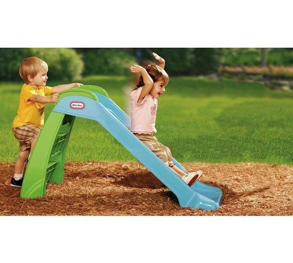 Little Tikes slide first