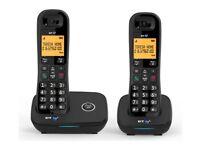 BT 1200 Cordless Telephone - Twin. Landline phone, blocks nuisance calls.