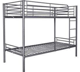 Single Bunk Bed Frame - Silver (no mattress)