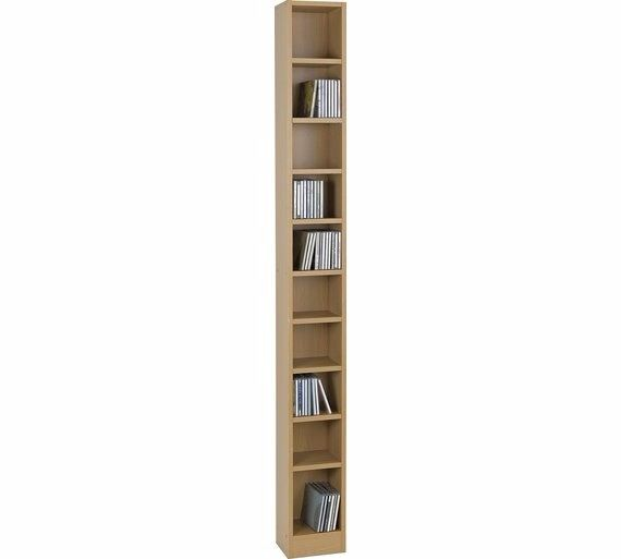 HOME Maine Tall CD and DVD Media Storage - Beech Effect 774.