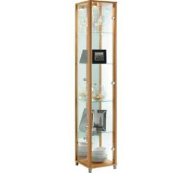 Ex Display 1 Glass Door Display Cabinet - Beech Effect