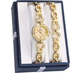 Limit Ladies Stone Set Watch & Bracelet. Brand new & boxed, ( Argos £17.99)