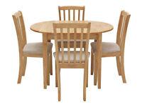 already built up Banbury Extendable Table & 4 Chairs - Cream