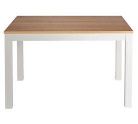 Clifton Oak Veneer 4 Seater Table - Two Tone