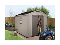 SHED - Keter Apex Plastic Resin Shed 8 x 11ft