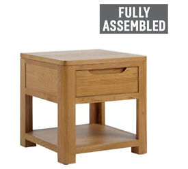 Heart of House Weymouth 1 Drawer Lamp Table - Solid Wood