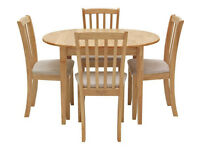 Collection Banbury Extendable Table & 4 Chairs - Cream