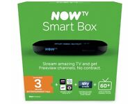 NEW NOWTV SMART BOX. Apps, Over 60 Freeview Channels, 15 HD channels, no contract