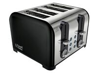Russell Hobbs Westminster 4 slice black Toaster 22405 Ex-Displayed NEW