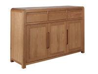 already built up Heart Of House Novara 3 Door 3 Drawer Oak Veneer Sideboard